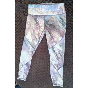 RBX Moonscape marble athletic leggings, EUC Large
